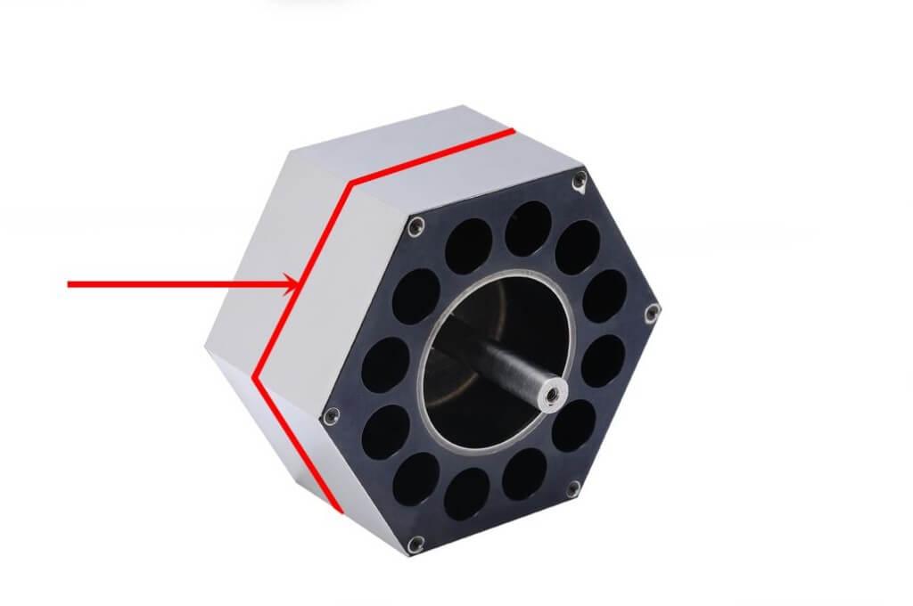 Polygon Mirror laser spot